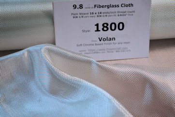 Photo 3, 9.8 oz/sq yd fiberglass cloth style 1800 fiberglass cloth loose
