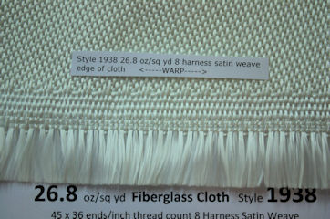 Style 1938 fiberglass cloth edge from Thayercraft Inc