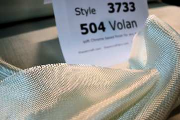 photo of 3733 volan finish fiberglass cloth loose roll on table with id sheet
