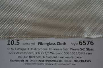 6576 close up with data smooth side 8hs fiberglass cloth