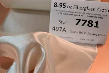 "Style 7781, 15"" big roll, 8 harness satin weave Fiberglass Cloth loose rol"
