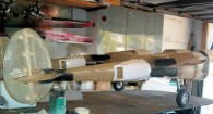 B17 Joe's P38 under construction made with fiberglass from Thayercraft