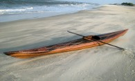 Tim's beautiful Cedar Strip Kayak Outer Banks NC covered with fiberglass from Thayercraft